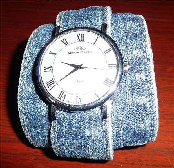 Как сделать ремешок для часов из ткани своими руками 98